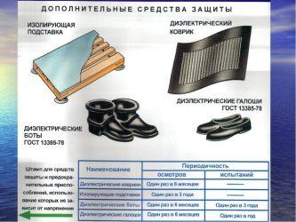 Периодичность проверки диэлектрических перчаток и бот